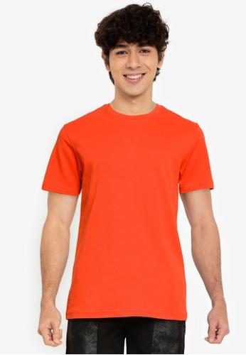 UniqTee orange Ultra Soft Comfort-Fit Crew Neck Tee D9F79AA20C7522GS_1