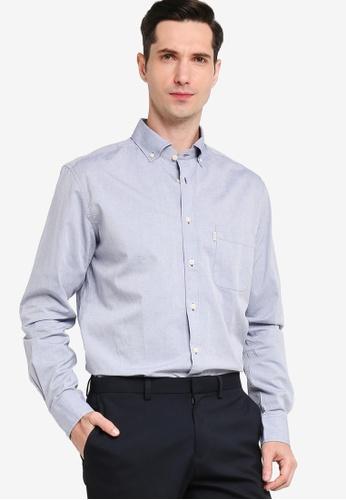 Sacoor Brothers blue Men's Plain Shirt 9ABC4AA87DAC47GS_1