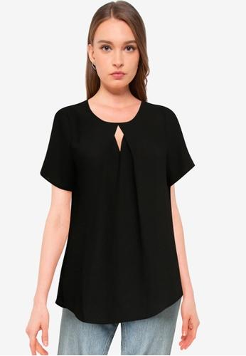 Vero Moda black Zigga Cutout Short Sleeve Top D9EDEAA17941C2GS_1