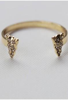 Leopard Studded Diamond Cuff