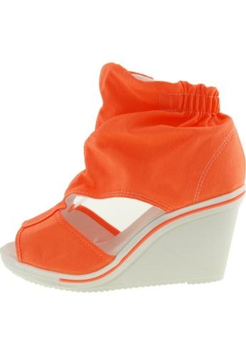Maxstar Maxstar Women's 775 Open Toe Elastic Ankle Canvas Wedge Heel Sandals US Women Size MA168SH24BXNHK_1