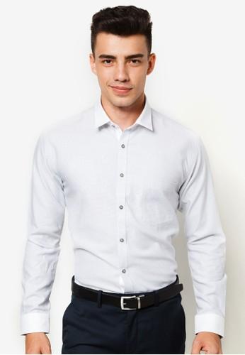 貼身長袖襯衫, esprit專櫃服飾, 服飾