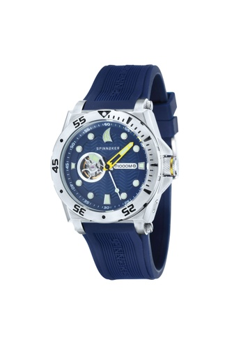 Spinnaker blue Overboard Rubber Strap Watch SP641AC22LNTPH_1