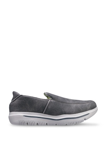 UniqTee 灰色 Lightweight Canvas Slip-On Sport Sneakers FBDE3SHD63455CGS_1