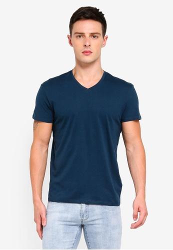 Electro Denim Lab 藍色 Cotton Tee 67420AA6E1C5F7GS_1