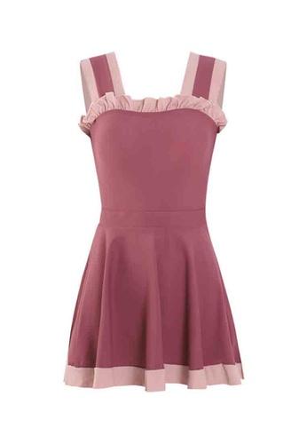 ZITIQUE pink Women's Sleeveless Ruffled One-piece Swimsuit - Pink 2E676US493D1A8GS_1