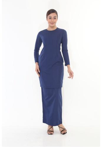 Amar Amran blue Baju Kurung Moden Qasandra 568A0AAD9E7DC2GS_1