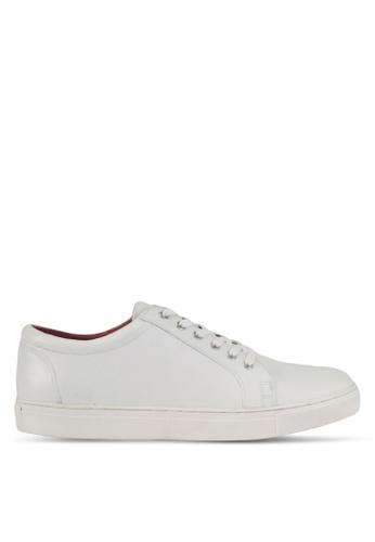 Acuto white Leather Sneakers AC283SH0SL6OMY_1