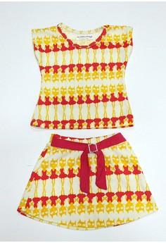 Rina Top and Skirt set