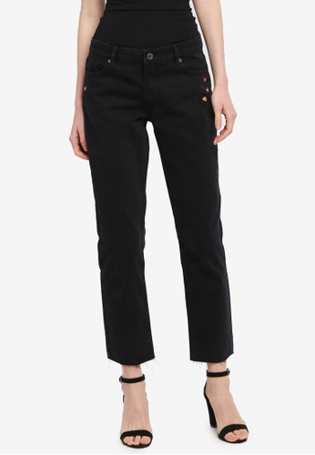 Modstrom black Frenchy Stone Washed Jeans E9BE0AAC1D4FB1GS_1