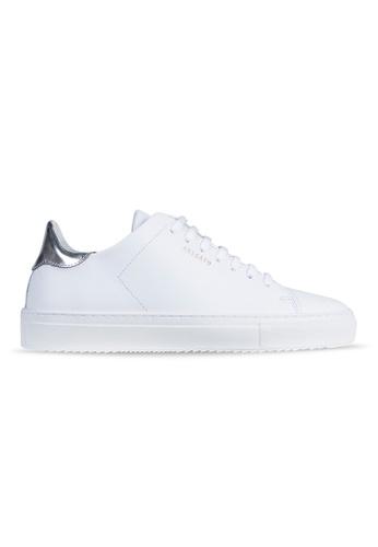 Axel Arigato Clean 90 Sneaker 白色皮革搭配科技銀鞋跟 6AD56SH8326FFFGS_1
