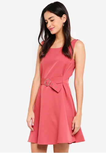 ZALORA red Strappy Buckle Detail Dress 82BE5AA7C366B6GS_1
