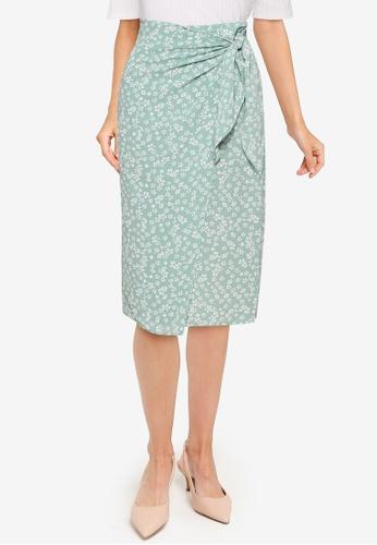 URBAN REVIVO green Casual Skirt 3359DAA7C1A8D5GS_1