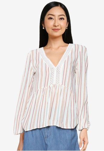Springfield multi Multi-Coloured Striped Blouse 09289AAE4CD8CCGS_1