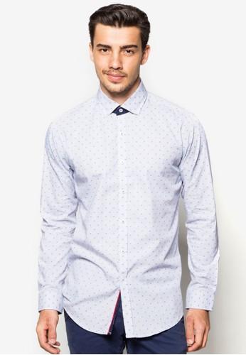 印花合身長袖襯衫,esprit專櫃 服飾, 服飾