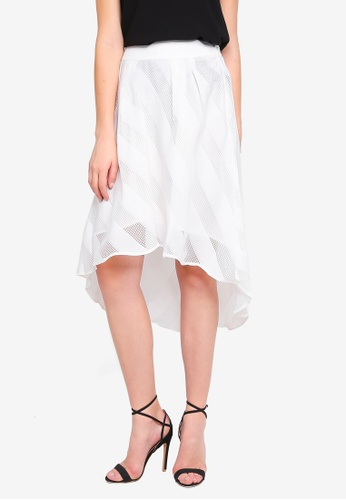 Angeleye white White Hi-Low Skirt DDB97AA28E21CEGS_1