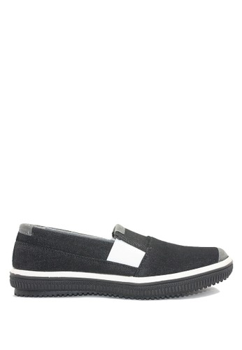 Dr. Kevin black and grey Dr. Kevin Mens Casual Slip-On Shoes 13323 - Black/Grey DR982SH0USA6ID_1