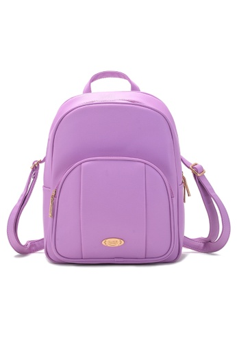 Vince purple Korean Designed Minimalist BackPack ( Purple ) VI456AC65URIMY_1