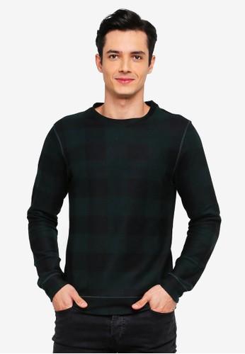 Jack & Jones green Heston Crew Neck Sweatshirt 6CD3DAA34EEF18GS_1