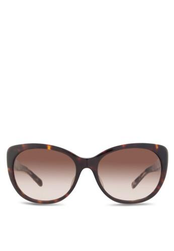 Burberry 印花貓眼太陽眼鏡, 飾品配esprit門市件, 飾品配件