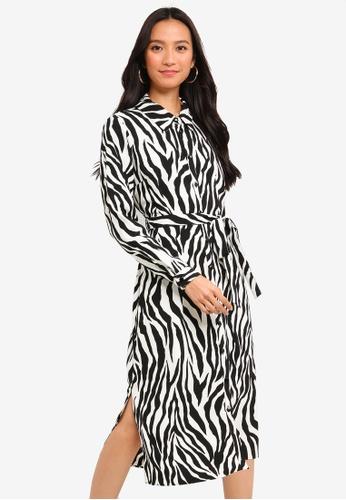 f4f20a6e227 Shop Wallis Black Zebra Print Shirt Dress Online on ZALORA Philippines