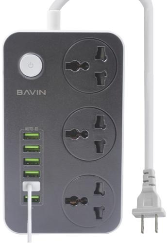 BAVIN white 6 USB Port 3-Power Socket Charger 29E63ACCB93927GS_1