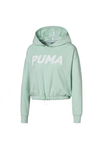 puma green Modern Sports Women's Hoodie FEB35AA24910F0GS_1