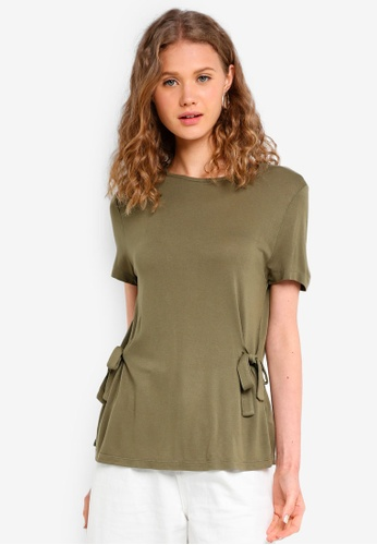 Jack Wills green Elwill Bow Side T-Shirt 4158EAA8B0E389GS_1