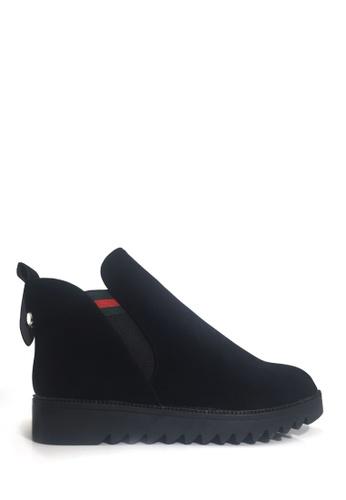 Twenty Eight Shoes black Elastic Flat Wedge Ankle Boots VB688 B6C2DSH4130B2FGS_1