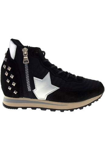 Maxstar black Maxstar JO TC 6-Holes Tall Up Casual Studed Sneakers MA164SH45CIKSG_1