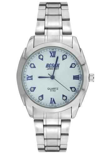 Dooka silver Bosck Men's Round Dial Stainless Steel Wrist Watch 5143 DO079AC16VALPH_1