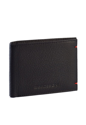 ENZODESIGN black and red Ultra Soft Touch Cow Leather Bifold With Card and I.D. Flap EN115AC70ZTPPH_1
