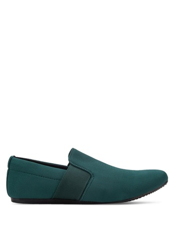 UniqTee green Classic Textile Loafers UN097SH72RDNMY_1