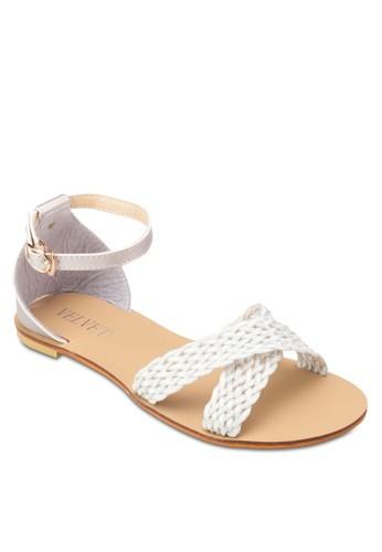 Dawn 編織寬帶包跟尖沙咀 esprit涼鞋, 女鞋, 鞋
