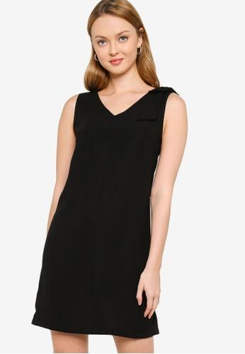 ZALORA WORK black Bow Detail Dress E9FBDAADFB0171GS_1