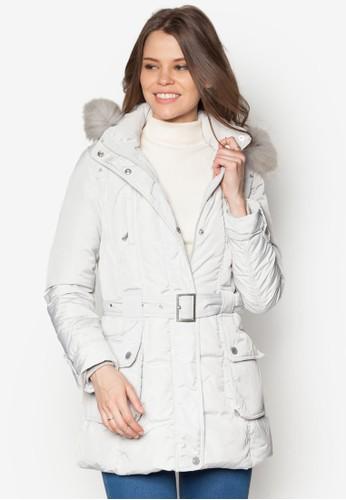 皮草連帽羽絨風衣外套, 服飾, 夾克 &esprit 內衣amp; 大衣