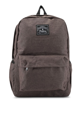 Playboy brown Playboy Casual Backpack PL371AC0SK0AMY_1