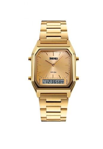 Fashion by Latest Gadget gold SKMEI 1220 Fashion EL Backlight Waterproof Watch FA499AC0K96WPH_1