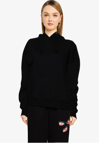 MISSGUIDED black Petite Basic Oversize Hoodie 89A31AAF84C974GS_1