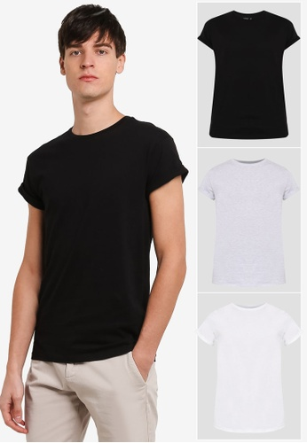 Topman multi Assorted Marl Muscle Fit T-Shirt Pack TO413AA0RXUIMY_1