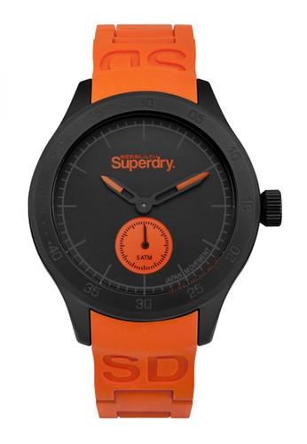 Superdry Watch orange Superdry Jam Tangan Pria - Black Orange - Rubber - SYG212OB 9CA55ACABB4602GS_1