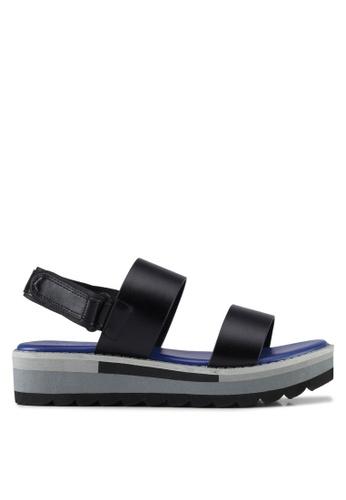VINCCI black Strappy Sandals 8ACF9SHF20C245GS_1