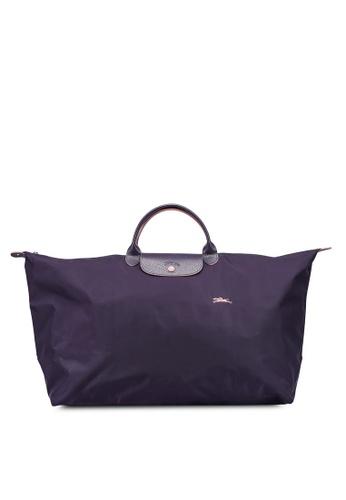 Longchamp purple Le Pliage Club L Travel Bag (zt) 8FB4BAC1D19C4DGS_1