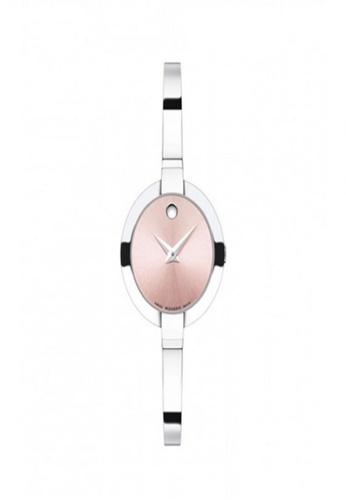 movado pink and silver Movado Ladies Movado Bela Watch 20F04ACEF87CBFGS_1