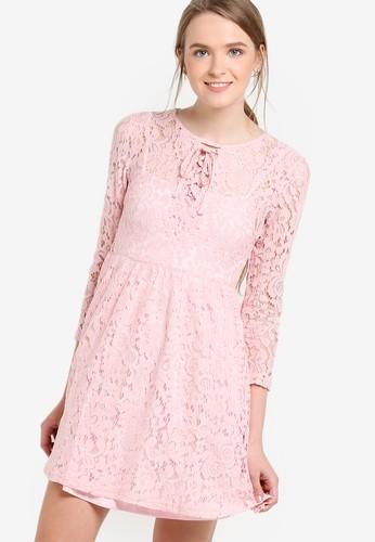 蕾絲七分袖esprit 西裝連身裙, 服飾, 洋裝