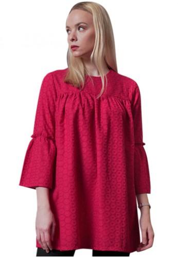 Elizabeth Clothing red Elizabeth Gretha Blouse 16280AAF076460GS_1