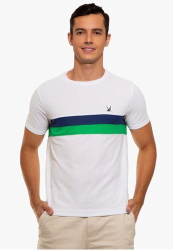 Nautica white Colorblock Stripe T-Shirt A32F1AA648C705GS_1