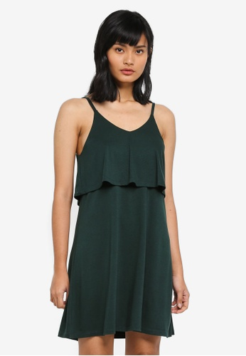 Something Borrowed green Double Layer Knit Dress 91A72AA76A9C75GS_1