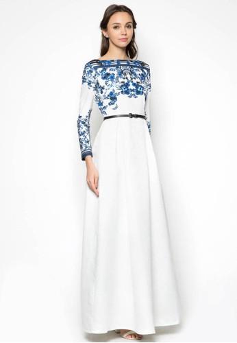 esprit 內衣Embellished Floral Dress, 服飾, 服飾