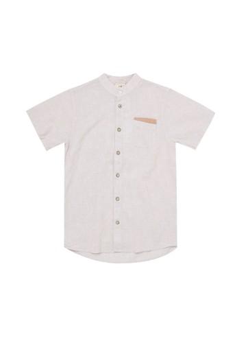 Giordano beige Linen Boy's Shirt 26B7CKAF2D4966GS_1